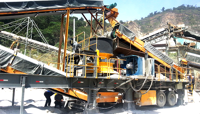 mobile crusher crushing station fast move
