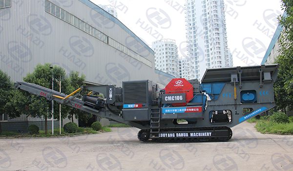 mobile crushing station automatic control