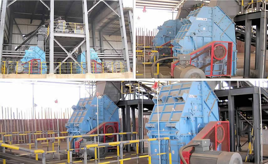 PCD Series Single-stage Hammer Crusher Application