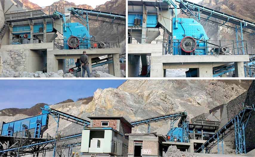 PFY Series Hard Rock Impact Crusher Application