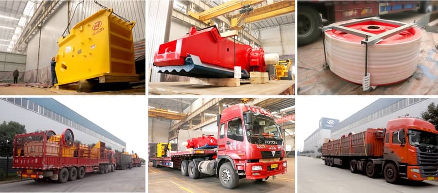 jaw crusher assembling and transportation