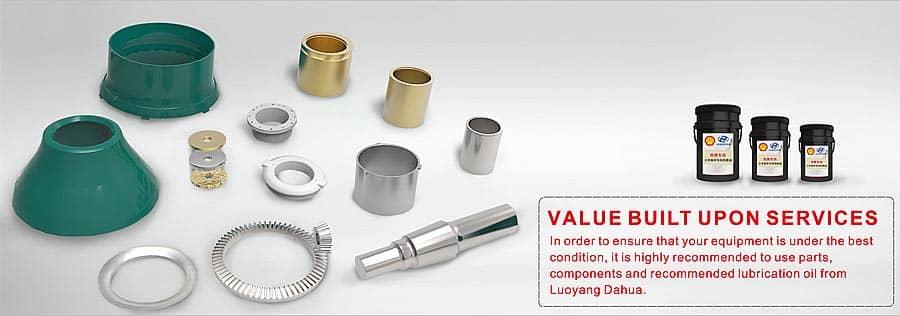 Single-cylinder hydraulic cone crusher spares